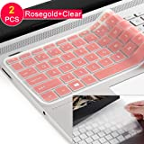 """[2pack] Keyboard Cover for HP Envy x360 2-in-1 15.6"""" Laptop Series /2018 Newest HP Pavilion 15.6 inch Series /2018 HP Envy 17"""