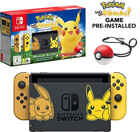 Nintendo Switch Lets Go Pikachu Limited Edition Console with ...