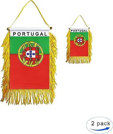 8 x 12 World Stick Flag Portugal