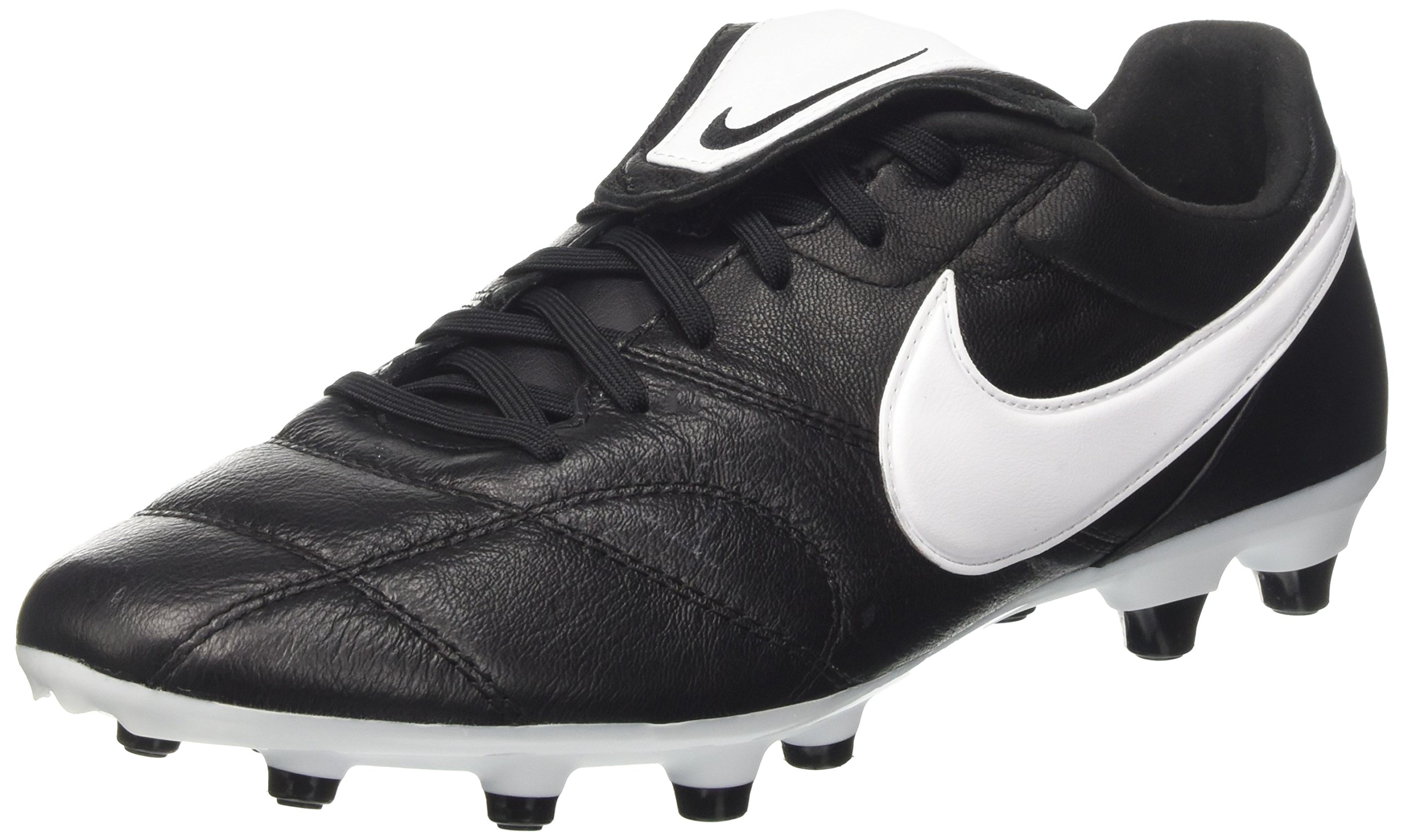 NIKE The Premier II FG 917803-001 Black/White Kangaroo Leather Men's Soccer Cleats (11 D US)