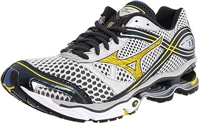 purchase cheap 48bab 2dad3 Mizuno Men s Wave Creation 13 Running Shoe,Silver Cyber Yellow Indigo Blue,