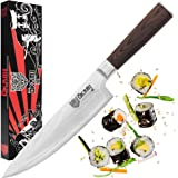 Okami Chef Knife 8 Inch High Carbon Damascus Stainless Steel Extra Sharp Cutlery Performance and Elegance
