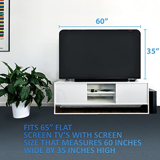 Amazoncom Lightweight Flat Screen Tv Cover Full Body Stretchable