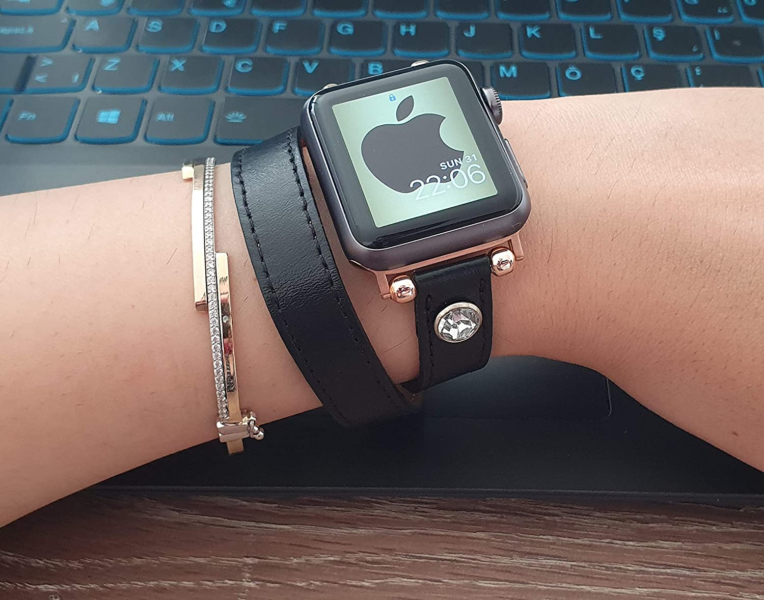 Double Tour apple watch band for women 38mm 40mm 42mm 44mm
