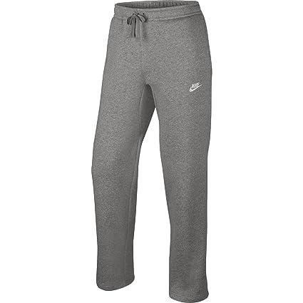 5b59d92e2da2 Nike Mens Open Hem Fleece Club Sweatpants (Dk Grey Heather White