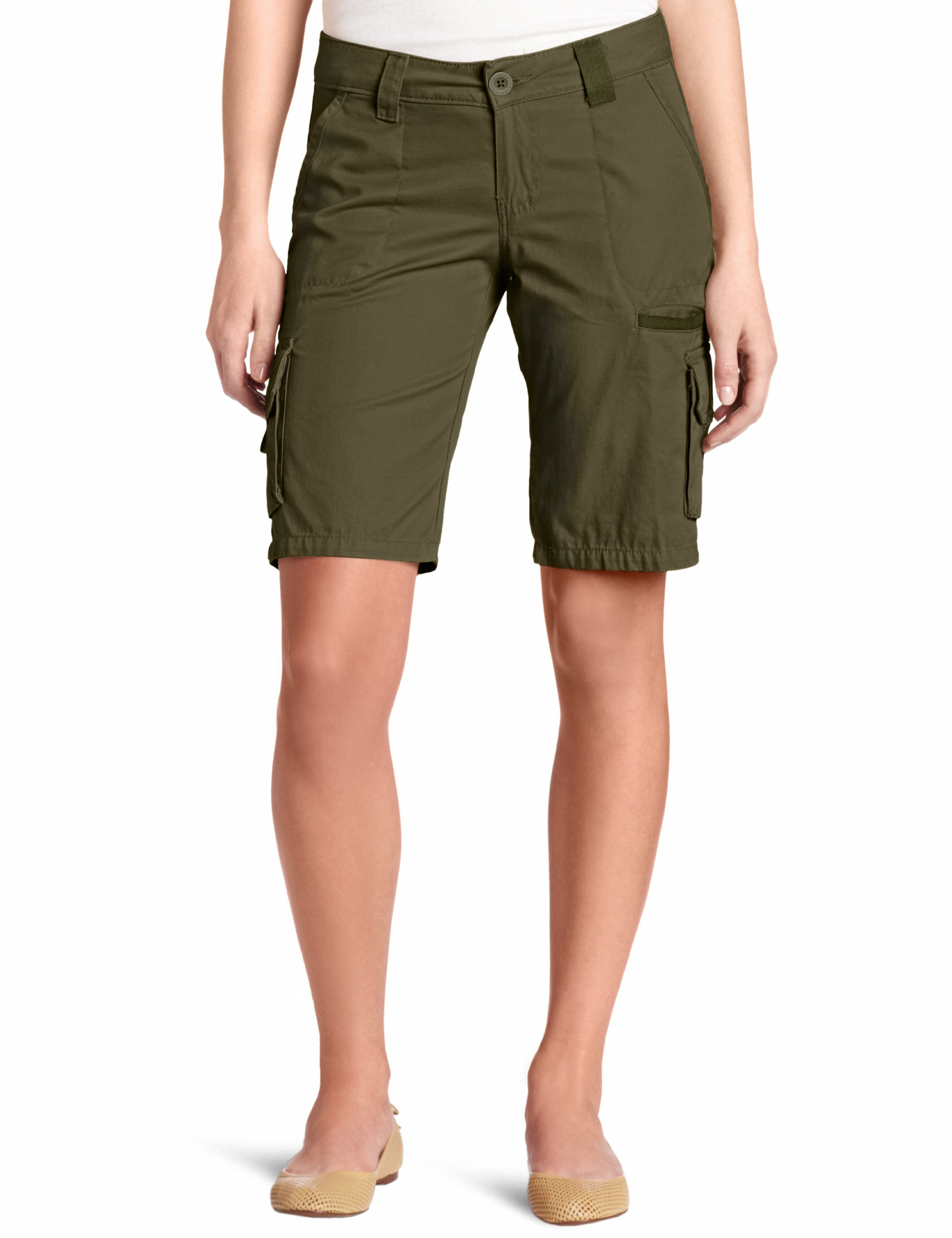 Dickies Women's 11 Inch Relaxed Cargo Short, Grape Leaf Green, 10