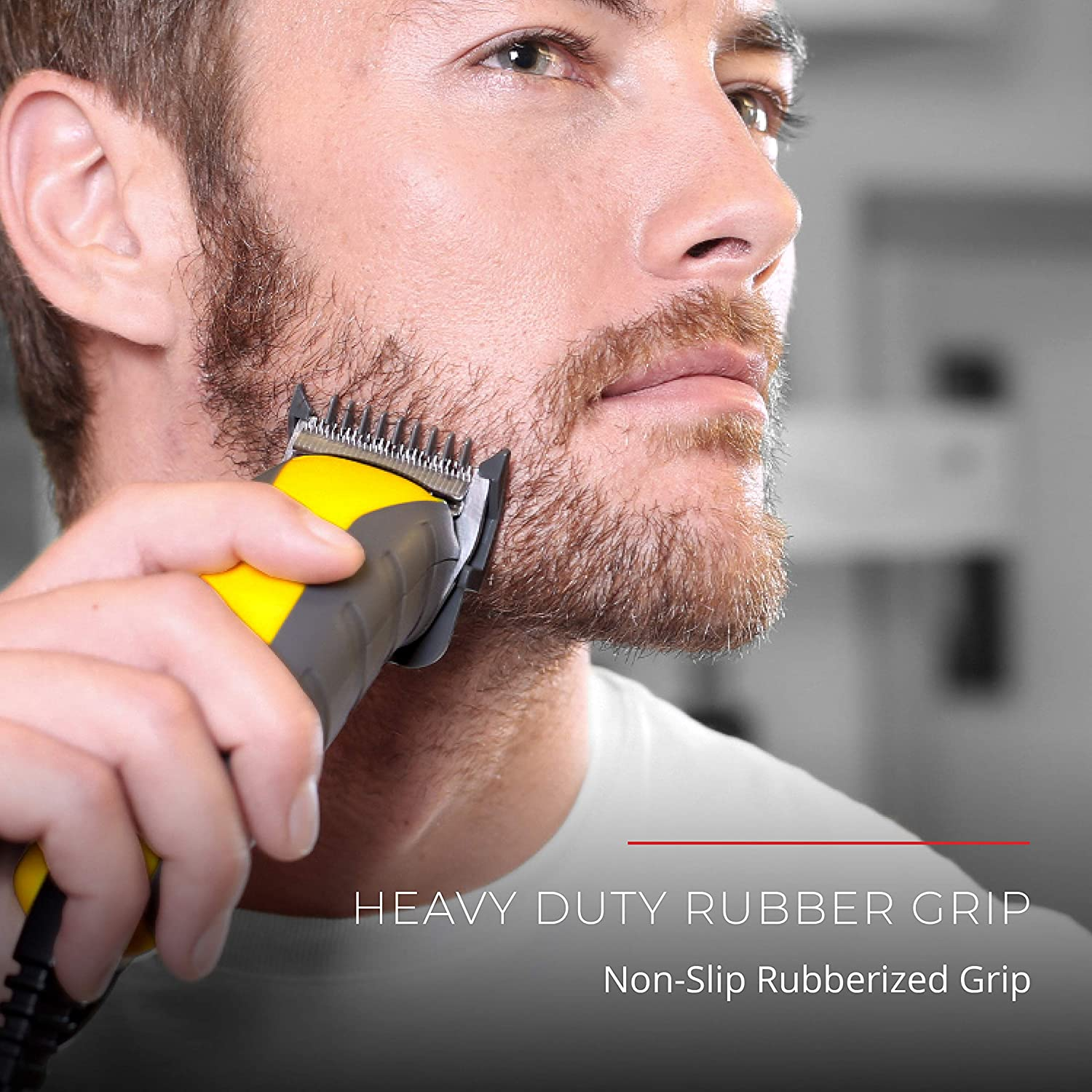 Hair Clippers for Men, Virtually Indestructible Haircut Kit & Beard Trimmer - 15 Pieces