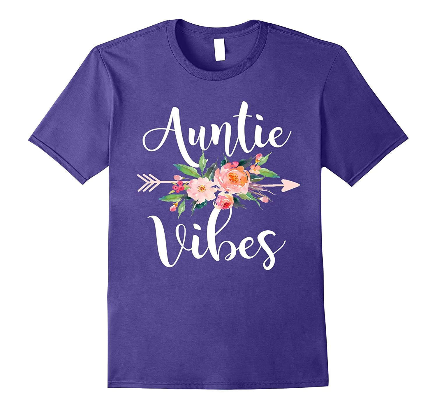 Auntie Vibes Cute aunt life shirt-TJ