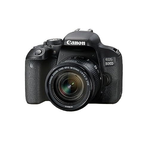 Canon EOS 800D Fotocamera Digitale, Obiettivo EF-S 18-55 mm f/4-5.6 IS STM, Nero