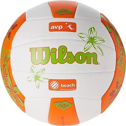 Wilson AVP Hawaii Pelota, Unisex, Blanco/Naranja/Verde, Talla ...