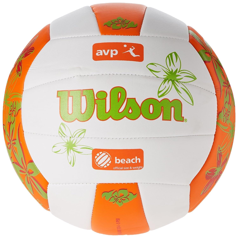 Wilson AVP Hawaii - Pelota, Color Blanco/Naranja / Verde, Talla única Wilson Teamsport WTH4825XBORGR05