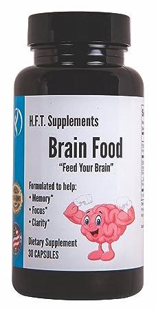 Nootropics Cognitive Brain Function Brain Support Memory and Focus Mental Clarity Brain Supplements H.F.T. Supplements Brain Food DMAE Ginkgo Bacopa Monnieri Rhodiola Rosea Memory Vitamins B12 B6