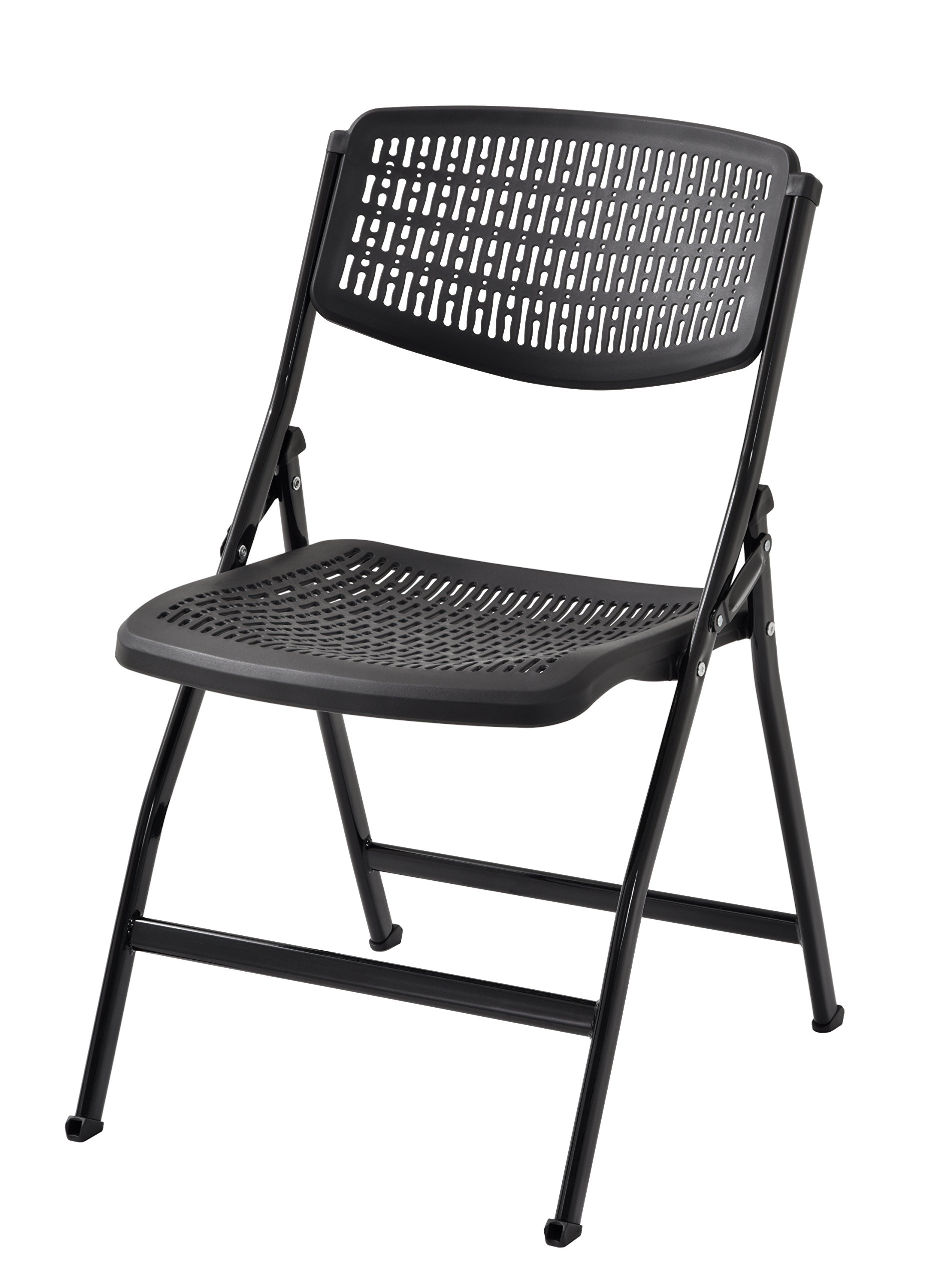 Muscle Rack FPMC-BLK Plastic Folding Chair (Pack of 4) by Muscle Rack