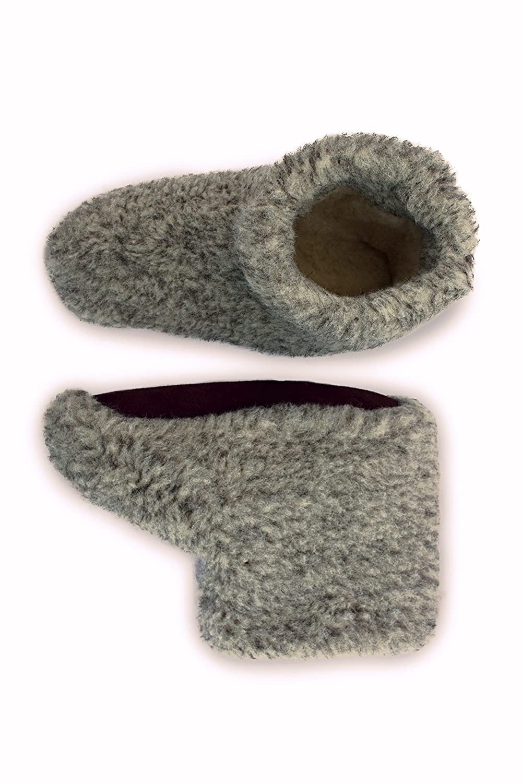 39e1363843e5e Men's Merino Wool Boots Warm Cozy Slippers Moccasins CHUNI Grey - UK Size:  3, 4, 5, 6, 7, 8, 9, 10, 11