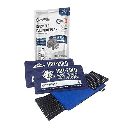 Bolsas de Gel Térmicas de Calor o Frío con Manga de Compresión para el Brazo - Paquete Múltiple