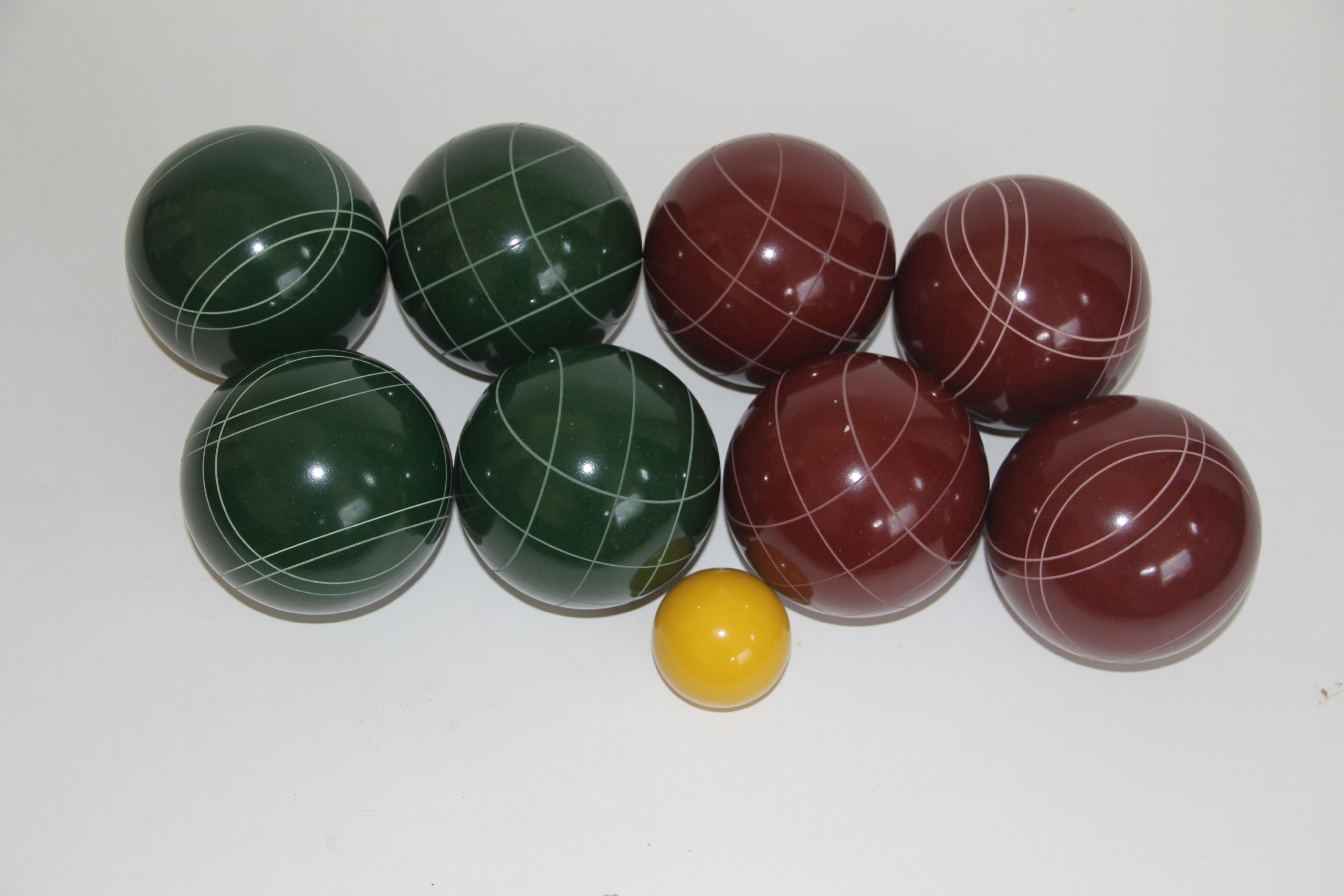 Premium Quality EPCO Tournament Set - 107mm Red and Green Bocce Balls - NO BAG OPTION [Toy] by Epco