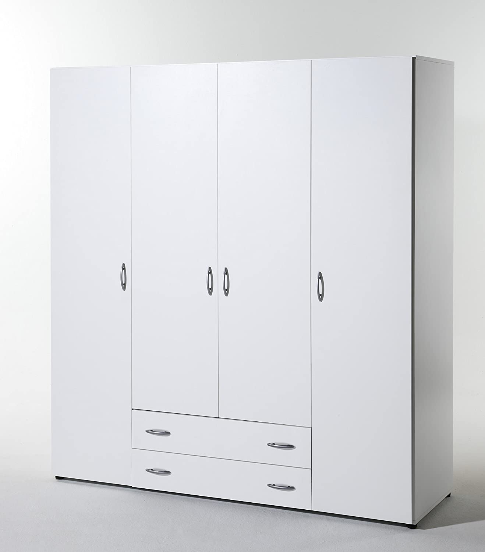 Stella Trading Base  3-türiger Kleiderschrank, Holz, walnuss, 52 x x 120 x 52 177 cm f5748f