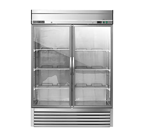 Amazon Maxx Cold Mxsr 49gd Two 2 Glass Door Reach In Upright