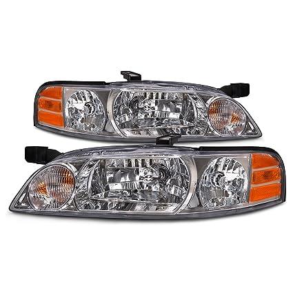 Amazon Com Headlights Depot Replacement For Nissan Altima Halogen