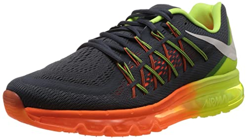 save off be007 ef536 Image Unavailable. Image not available for. Colour  Nike Air Max 2015 Men s  Running Sneaker Classic Charcoal White Volt Total orange