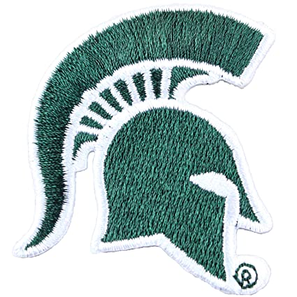 amazon com michigan state spartans helmet logo iron on embroidered rh amazon com michigan state logo change michigan state logos through the years