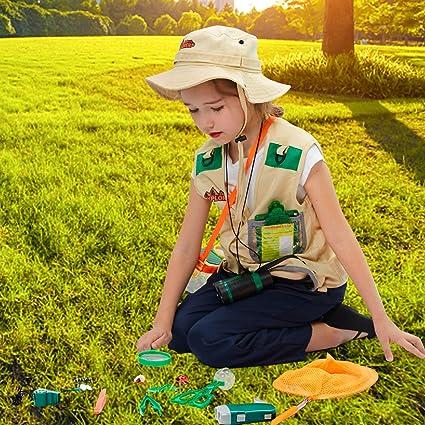 Tacobear Kit Explorador Niños Aire Libre Aventura Juguetes con Prismáticos Lupa Cazamariposas Silbato Juguetes Educativos Juguetes de Exploración Regalo para niños 3 4 5 6 7 8 años: Amazon.es: Juguetes y juegos