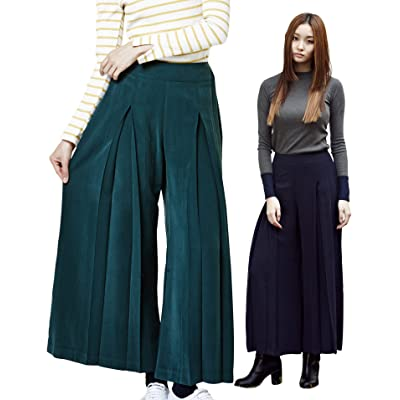 2NEFIT Women's Casual Fit Wide Leg Wrinkle Angle Wide Pants