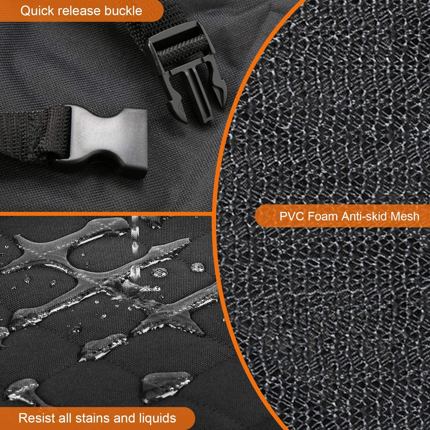 Seat Cover Protector for Cars Trucks SUVs Docatgo Luxury Car Seat Cover//Hammock for Rear Bench 100/% Waterproof Anti-Slip Design Simple Installation /& Easy to Clean