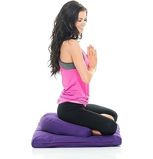 Amazon.com : Leewadee Meditation Set: Zafu Cushion, Zabuton ...