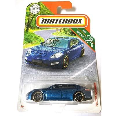 Matchbox 2020 MBX Road Trip Porsche Panamera 26/125, Blue: Toys & Games