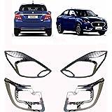 AutoPop Silver Tail Light Chrome Headlight for Maruti Suzuki New Dzire 2017 (Set of 4)