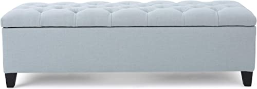 Christopher Knight Home Ottilie Fabric Storage Ottoman