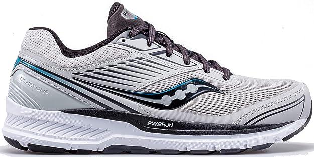 SAUCONY Echelon 08 Zapatilla para Correr en Carretera o Camino de Tierra Ligero con Soporte Neutral para Hombre Gris: Amazon.es: Zapatos y complementos