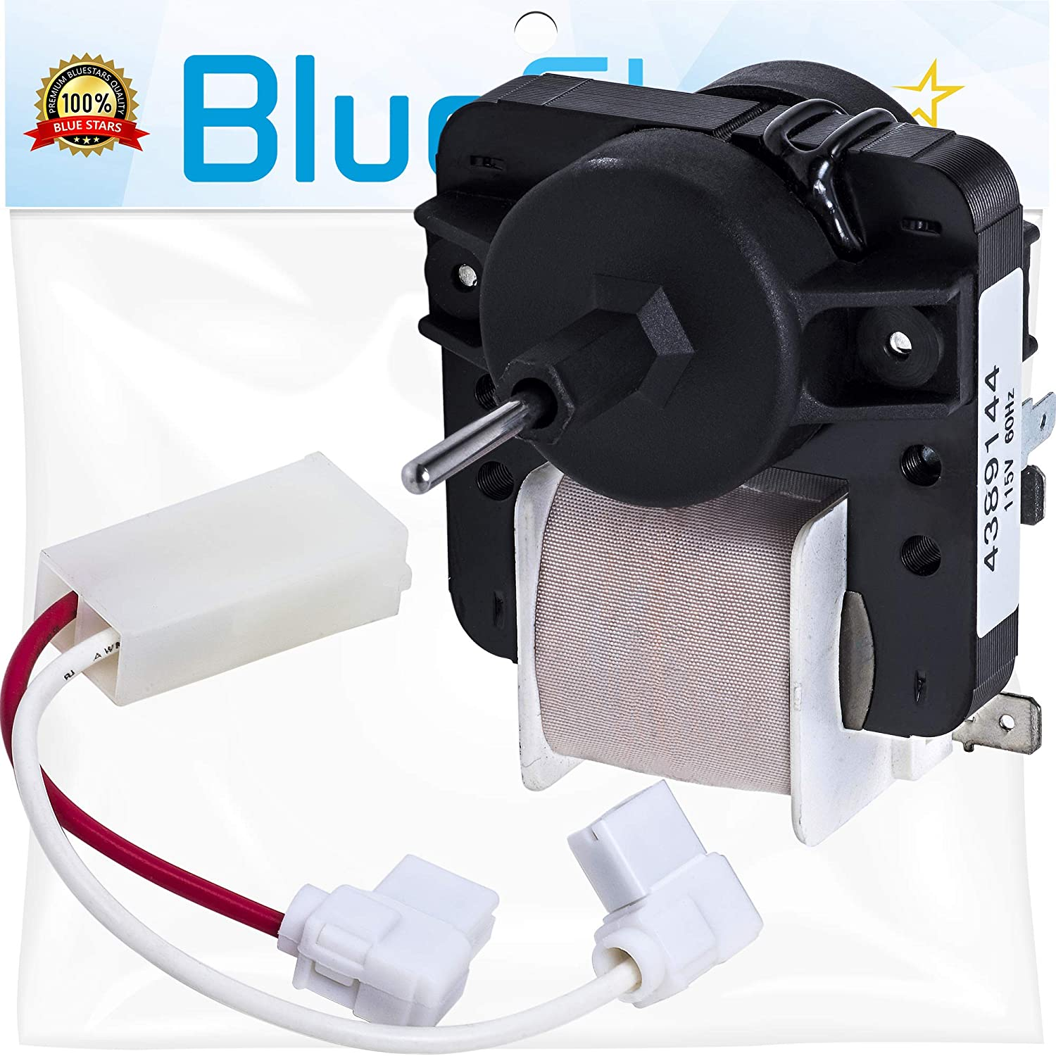Ultra Durable 4389144 Refrigerator Evaporator Motor Replacement Part by Blue Stars - Exact Fit for Whirlpool Kenmore Refrigerators - Replaces 2162404 2149299 PS557957 W10312647