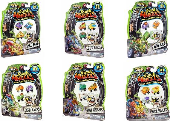 Moose Toys The Trash Pack Series 1 Trash Wheels 4-Pack Set of 6: Amazon.es: Juguetes y juegos