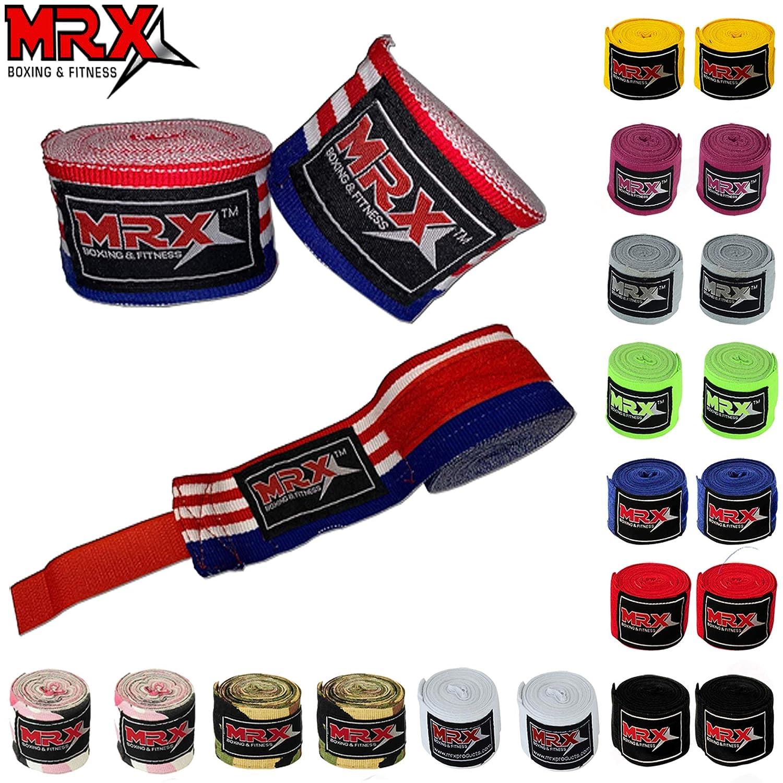 MRX ボクシング&フィットネス ボクシング ハンドラップ コットン100% マルチカラー 総合格闘技 ボクシング ムエタイ キックボクシング トレーニング 118, 160, 180 長さ B07NPRPMWL US-Flag