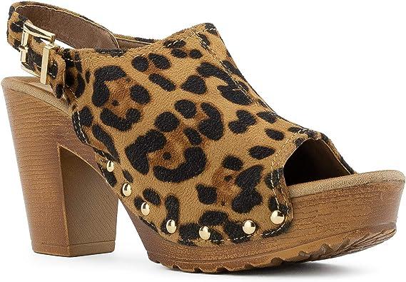 Women's Platform Heeled Sandals Ankle