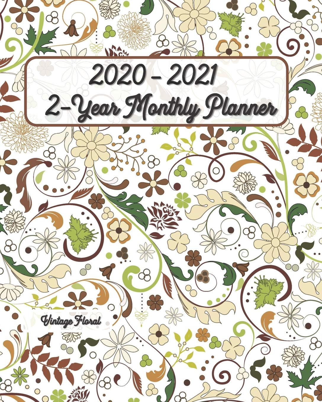Amazon.com: 2020 - 2021 Vintage Floral 2-Year Planner 8x10 ...