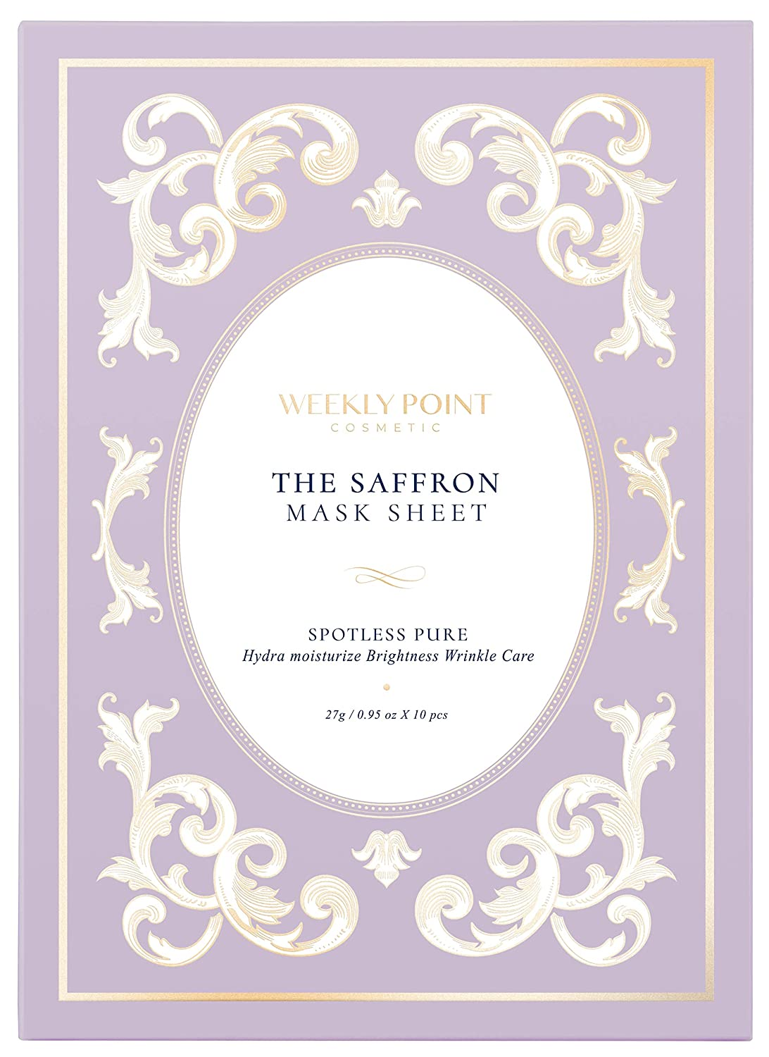 [Weekly Point Cosmetic The Saffron] - Facial mask sheet (10pcs in 1pack)