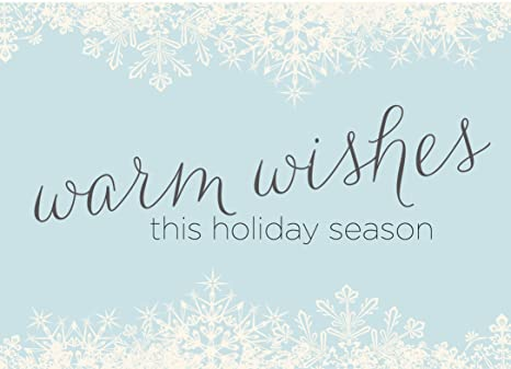Amazon holiday greeting cards h1507 business greeting card holiday greeting cards h1507 business greeting card with warm wishes and snowflakes design m4hsunfo