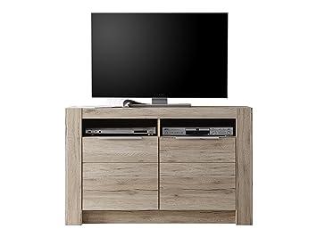 Tv Bank Eiche trendteam cg86690 tv möbel lowboard eiche san remo hell nachbildung