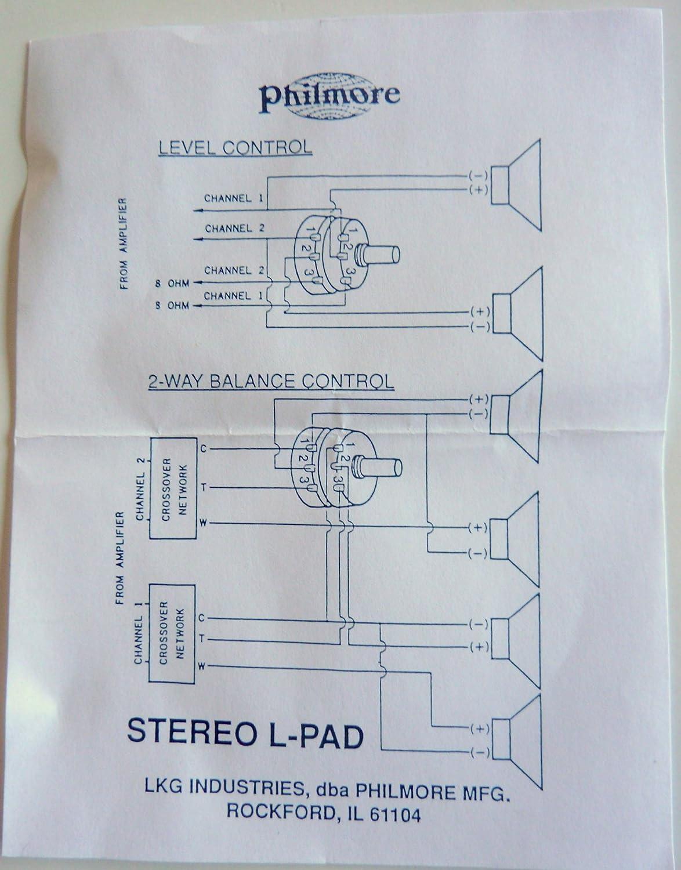 Amazon.com: Philmore Stereo L-Pad Attenuator for Speaker Volume ...