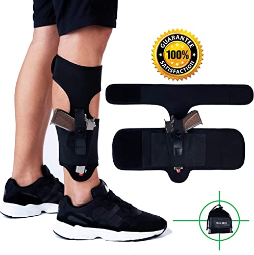 Ankle Holster for Concealed Carry Universal Ankle Holster for Men and Women 2xStronger Velcro Adjustable Ankle Holster for Glock 43 42 36 26 19, Smith&...