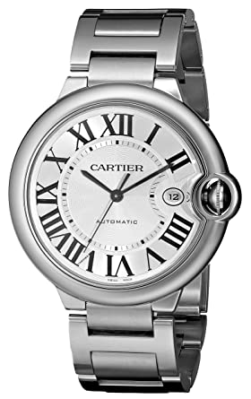 6876d10dab2 Amazon.com  Cartier Men s W69012Z4 Ballon Bleu Stainless Steel ...