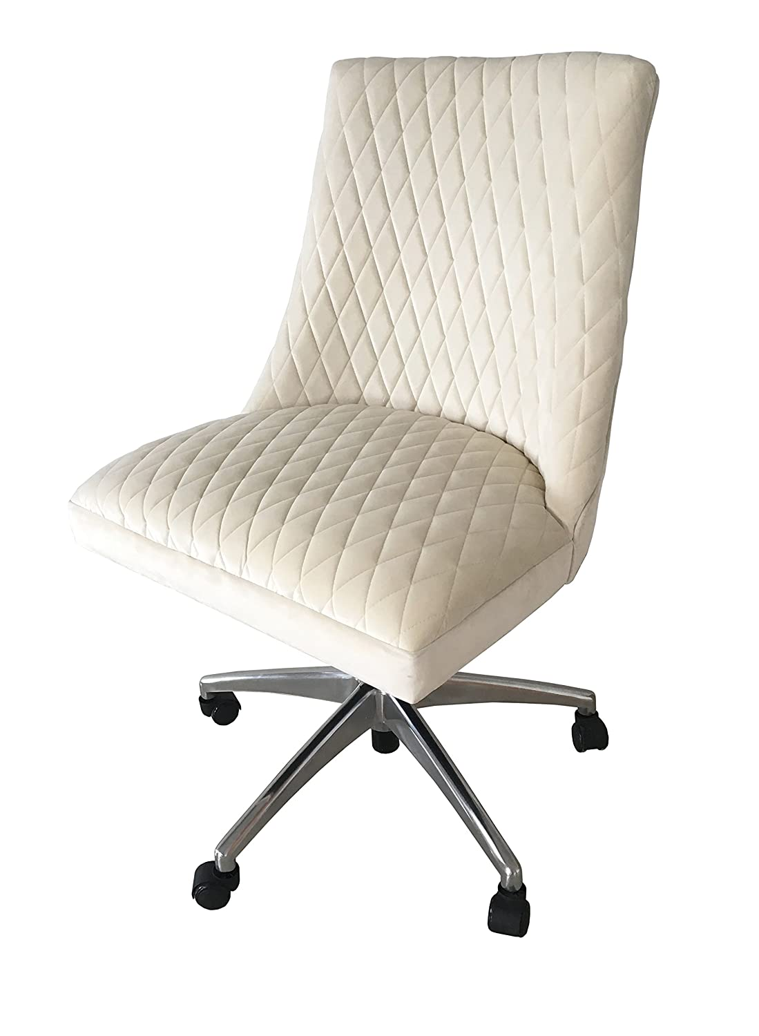 Cream Velvet Office Chair