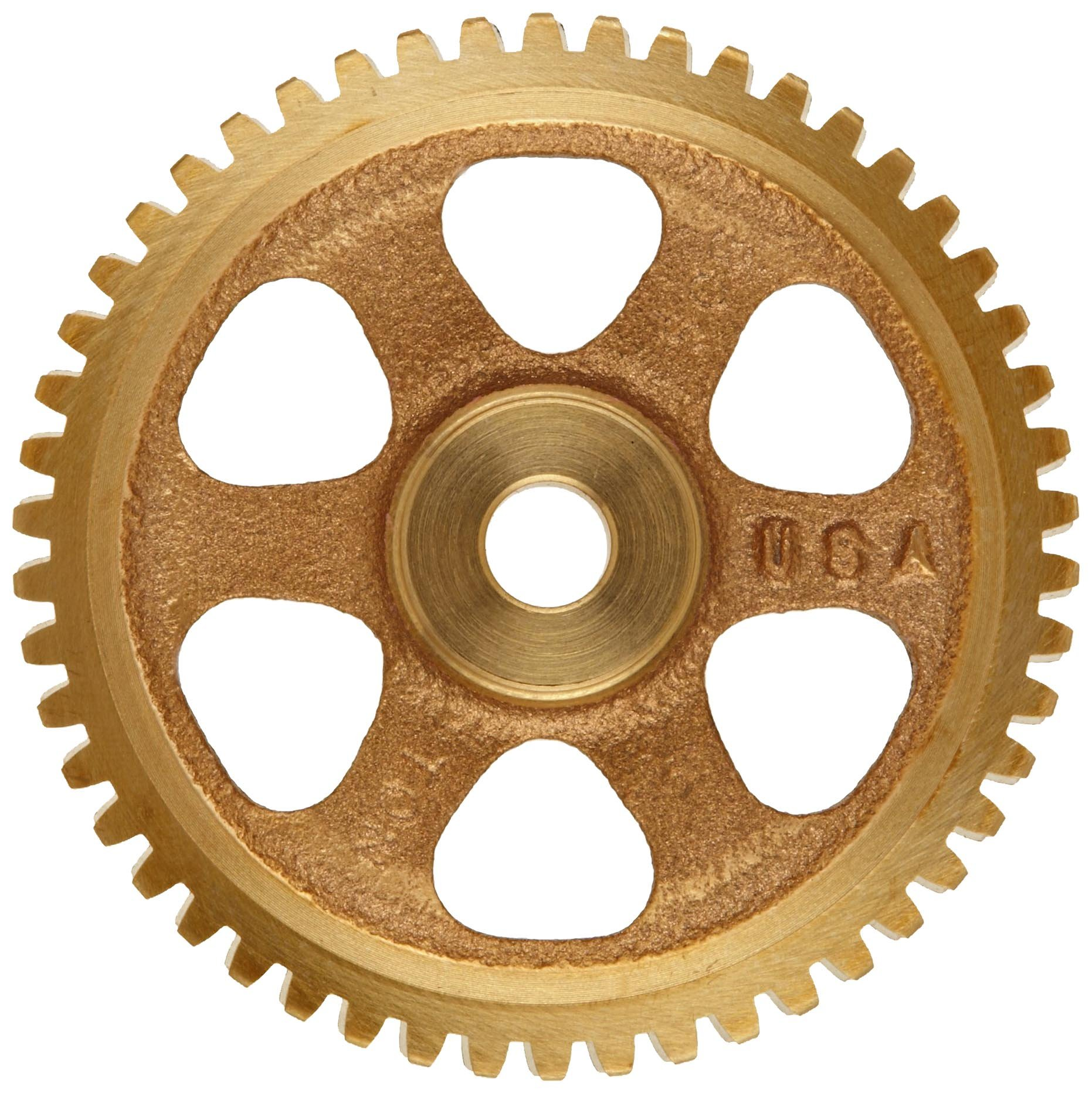 Boston Gear G1048 Worm Gear, Spoke, 14.5 PA Pressure Angle, 0.375'' Bore, 60:1 Ratio, 60 TEETH, RH