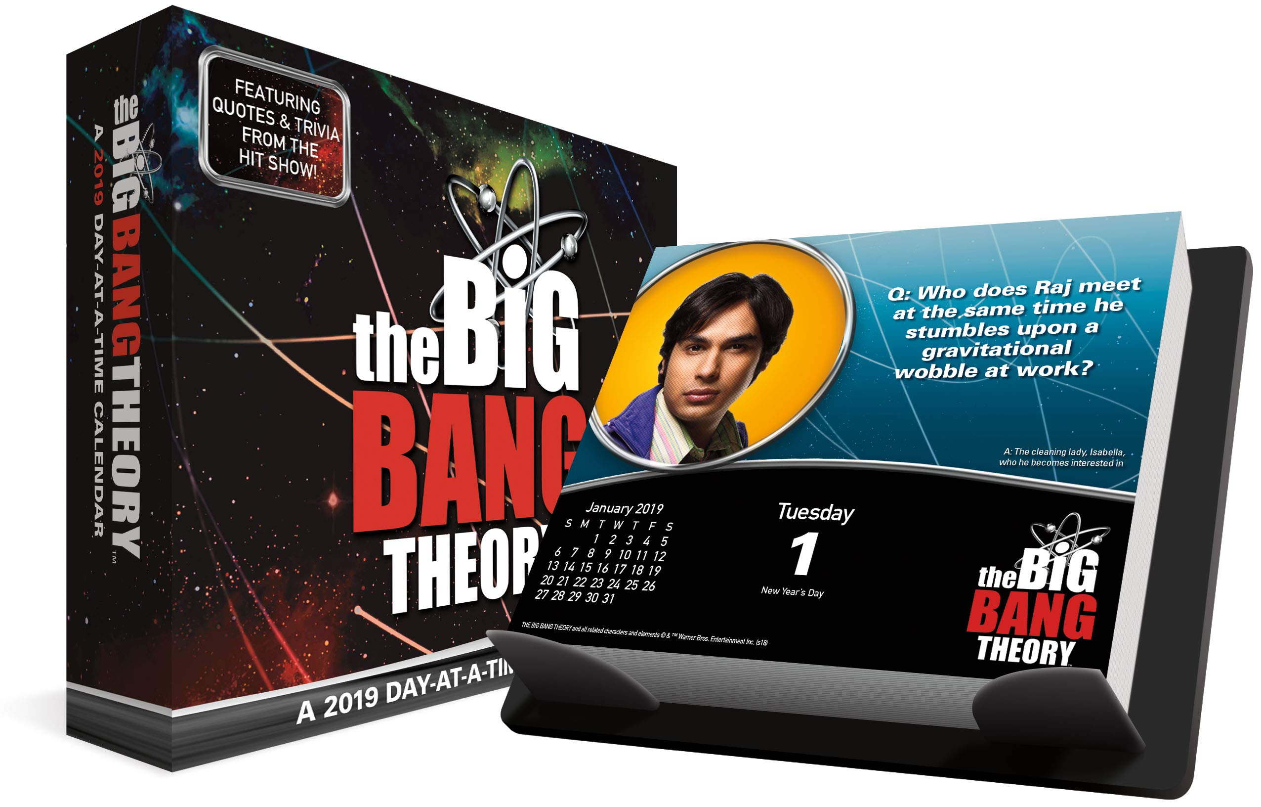 the big bang theory 2018 day at a time box calendar