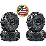 4 Pro-Line 1182-13 Badlands sc Short-Course Tires on Renegade Wheels for Slash 4x4 m2 118213