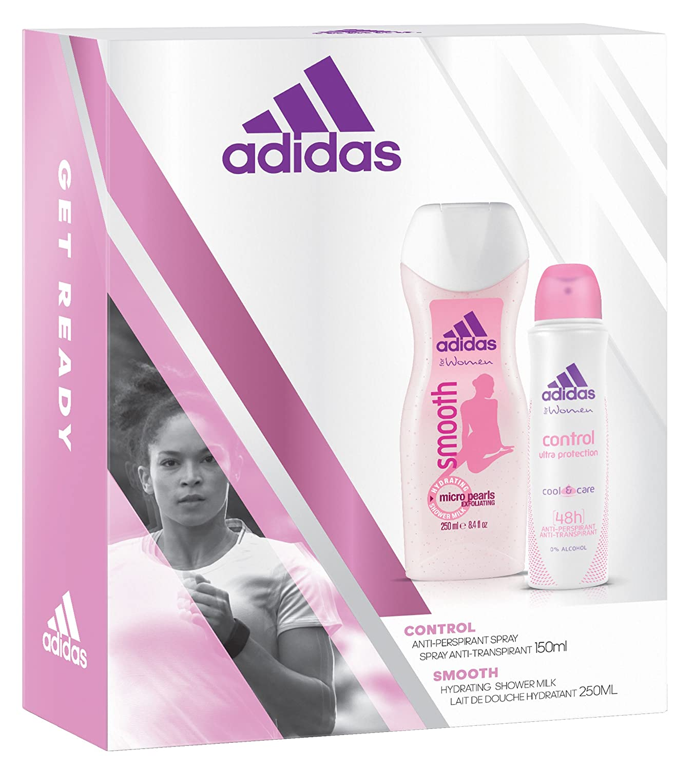 adidas Control APD + Smooth Shower Gel, 400 ml 31992264000