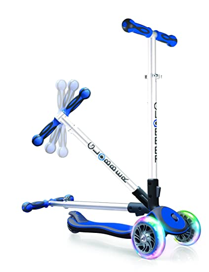 Amazon.com: Globber Elite 3 Wheel Folding Adjustable Height ...
